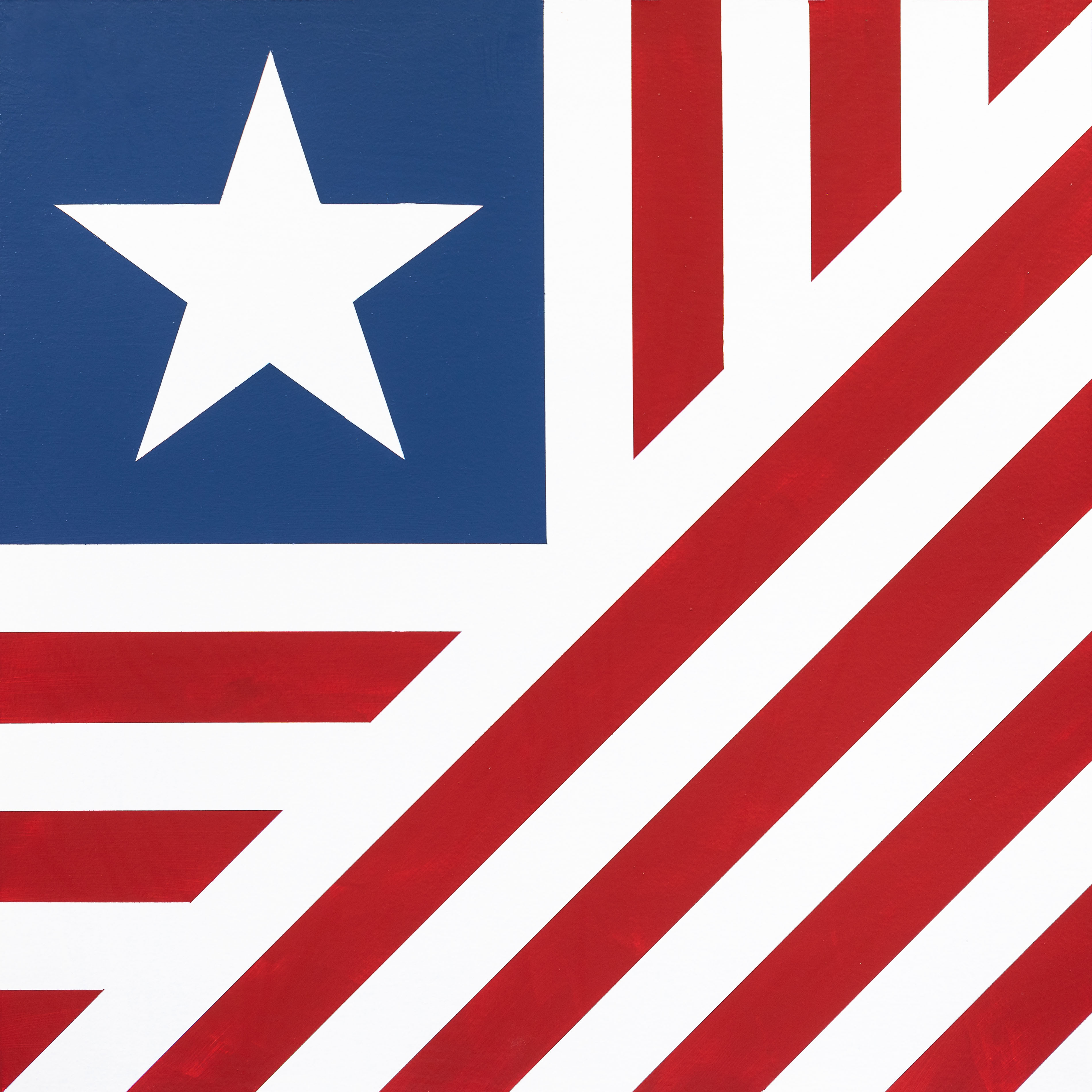 Barn Quilt Old Glory 2x2