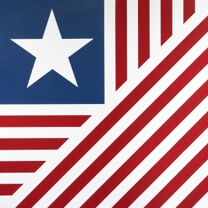 Barn Quilt Old Glory 3x3