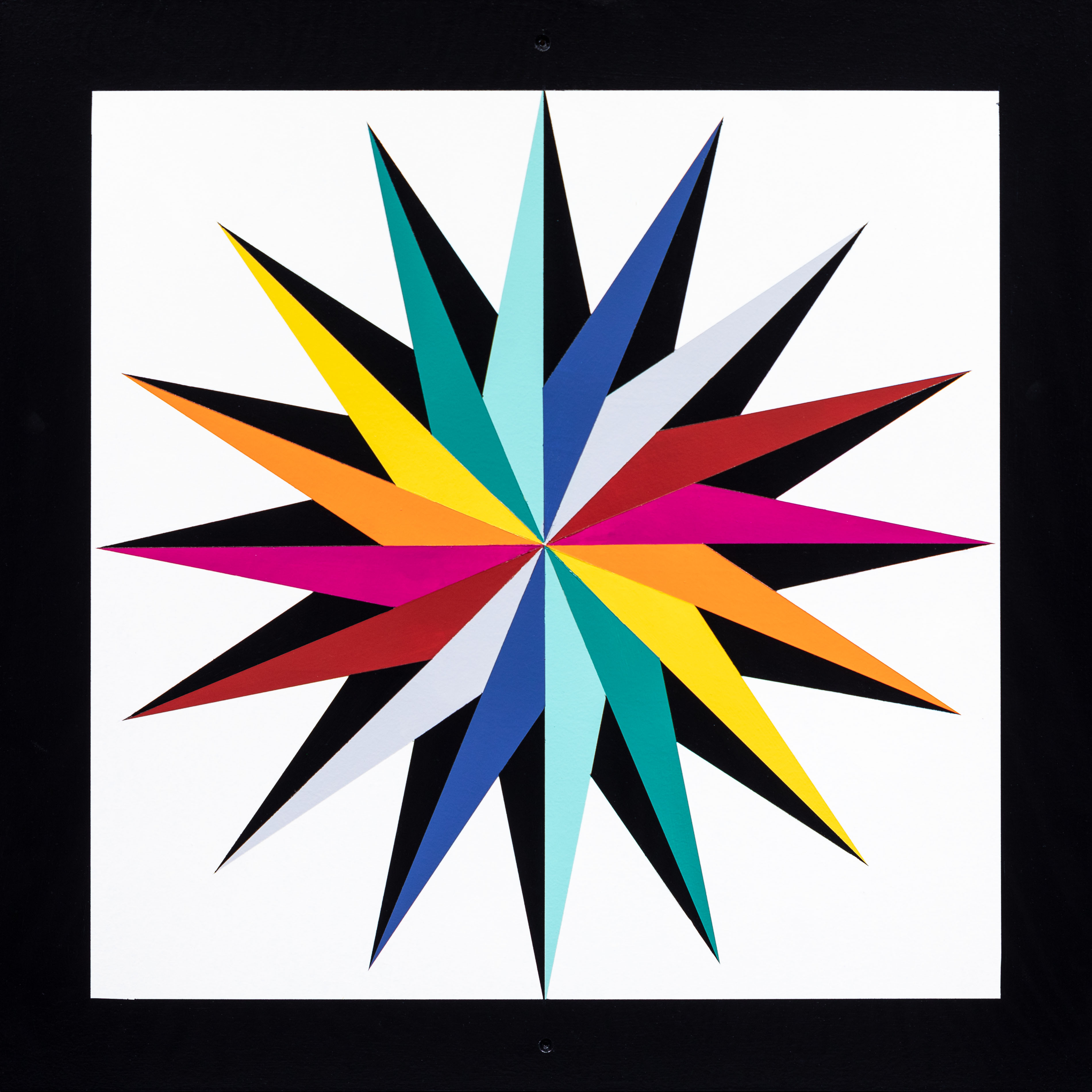 Barn Quilt Shadow Compass