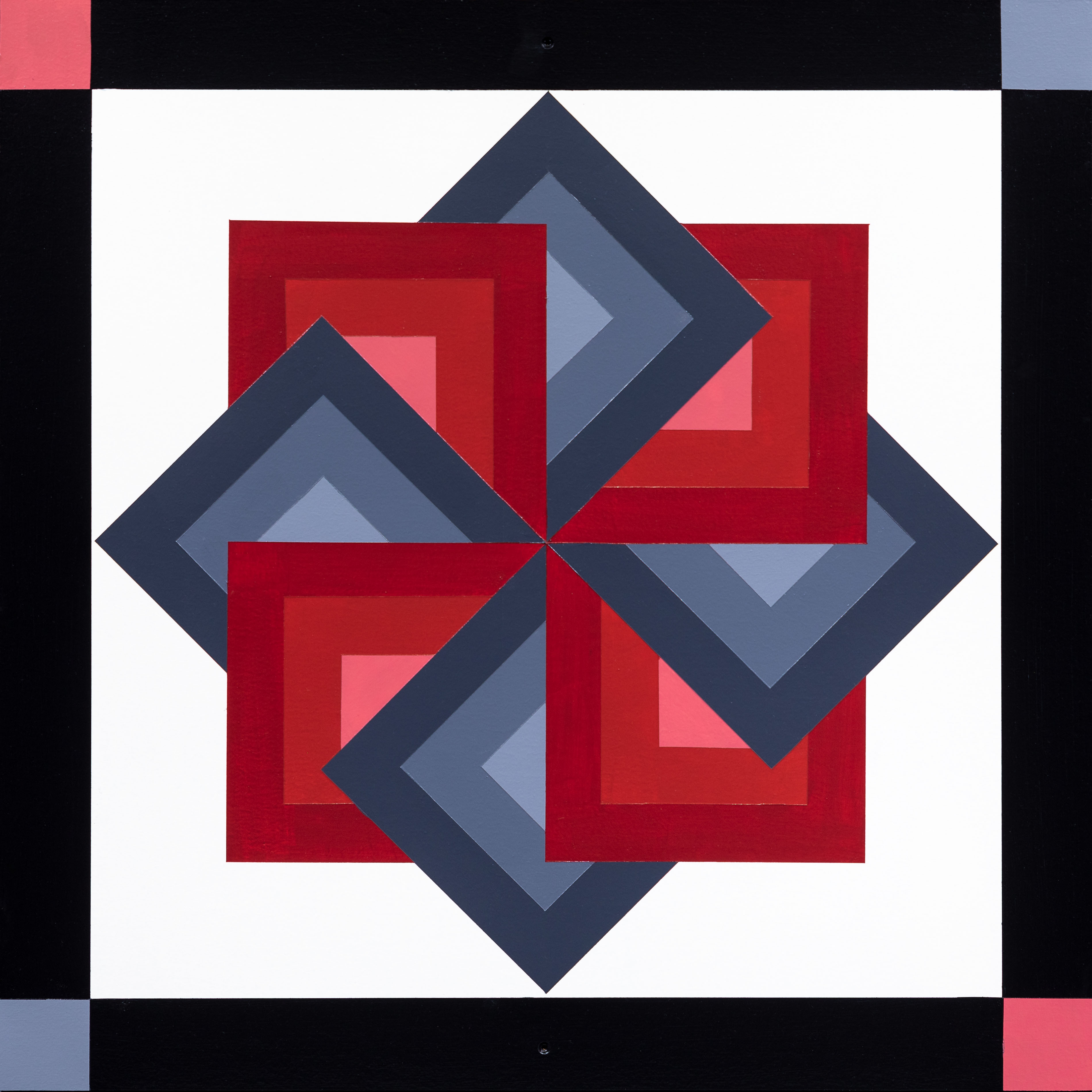 Barn Quilt Starspin Twilight