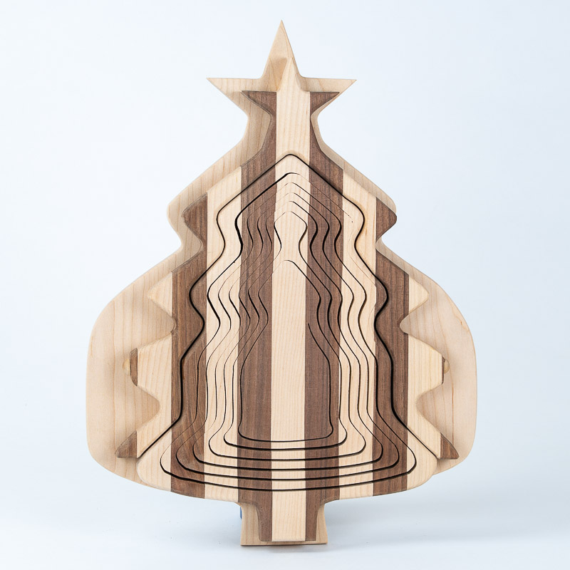 collapsible-basket-maple-walnut-christmas tree