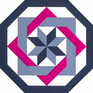 Barn Quilt Labyrinth Pink