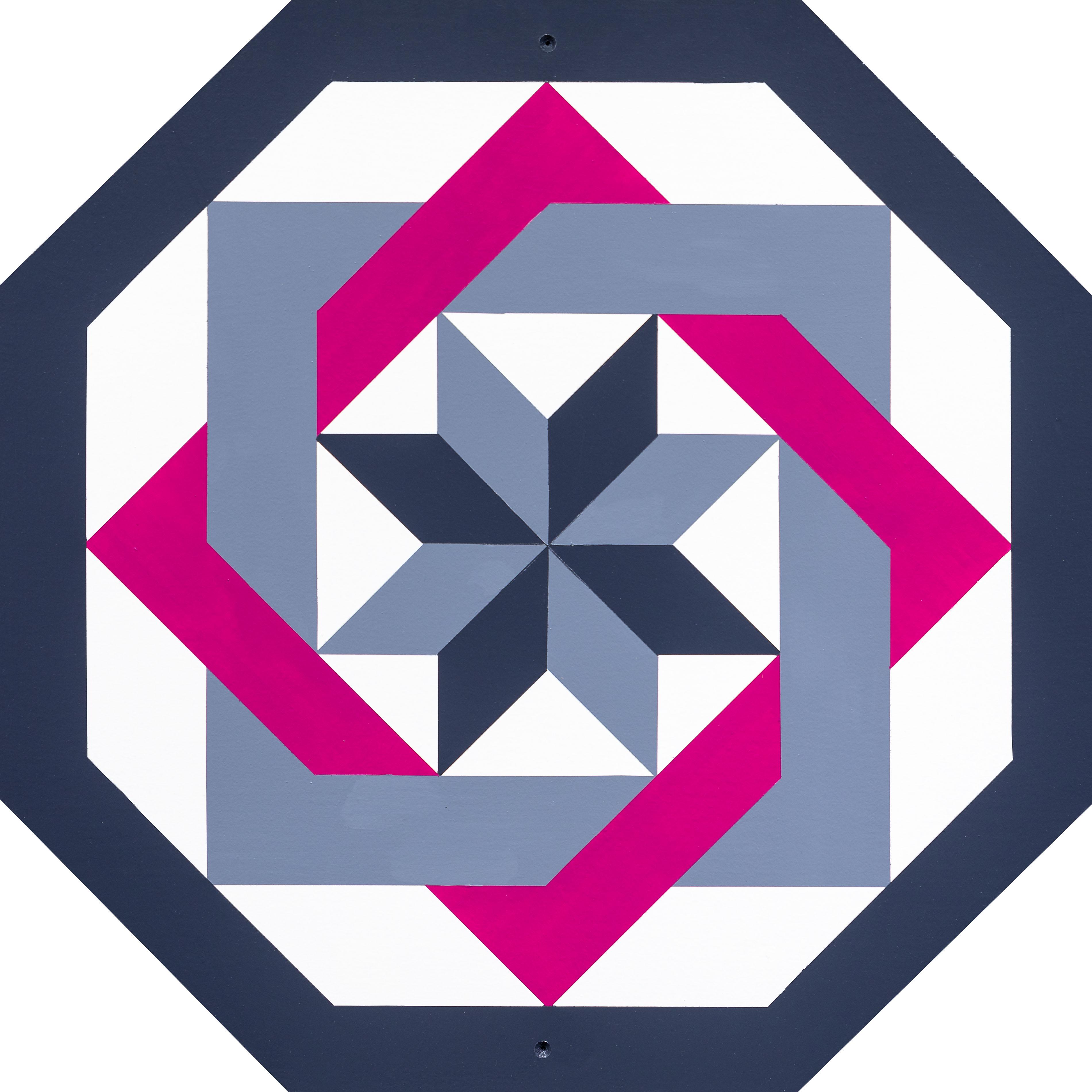 Barn Quilt Labyrinth Pink